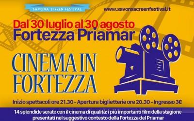 """Torna la rassegna """"Cinema in fortezza"""": 14 serate di proiezioni al Priamar"""