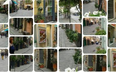Finale Ligure, Via Pertica, il budello con i fiori è ancora più bello.