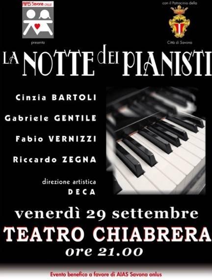 """Savona, Musica e beneficenza: ritorna """" La Notte dei Pianisti """""""