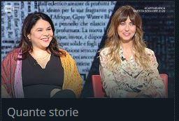 """Michela Murgia e Chiara Tagliaferri a """"Quante storie""""."""