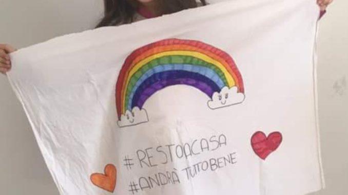 #andratuttobene: un arcobaleno  per sconfiggere la paura del Coronavirus. di Silvano Molinas