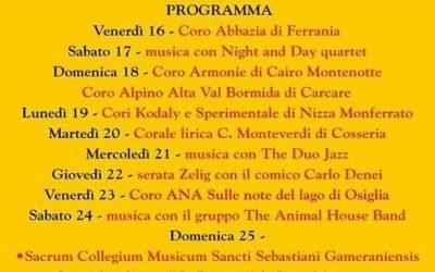 Borgo in Festa a Ferrania: dal16 al 25 e 29 giugno 2017