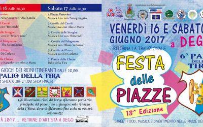 Ritorna a Dego la Festa delle Piazze e il Palio della Tira!