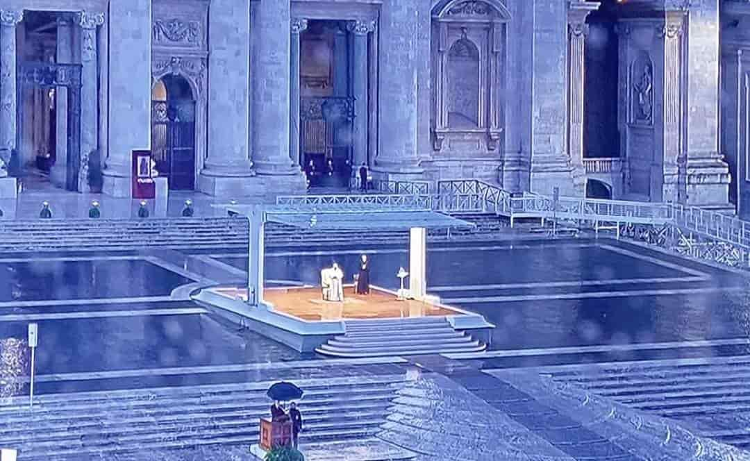 La preghiera  del Papa al mondo. di Silvano Molinas